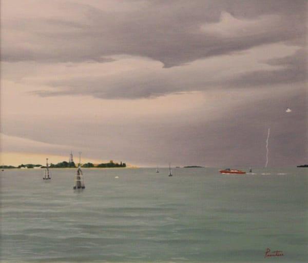 Storm On Venice Bay Art | David R. Prentice