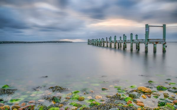 East Chop Pier Long Exposure Art | Michael Blanchard Inspirational Photography - Crossroads Gallery