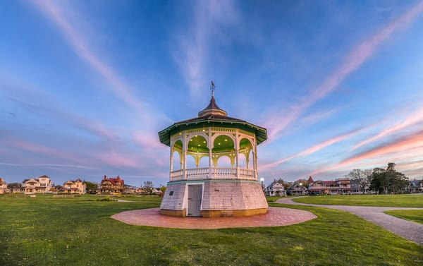 Bandstand Streaming Clouds Art | Michael Blanchard Inspirational Photography - Crossroads Gallery