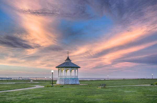 Bandstand Magenta Clouds Art | Michael Blanchard Inspirational Photography - Crossroads Gallery