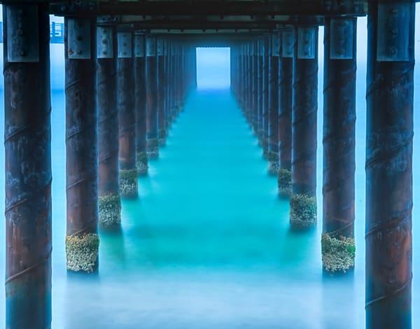 Oak Bluffs Pier Blue Light Art | Michael Blanchard Inspirational Photography - Crossroads Gallery