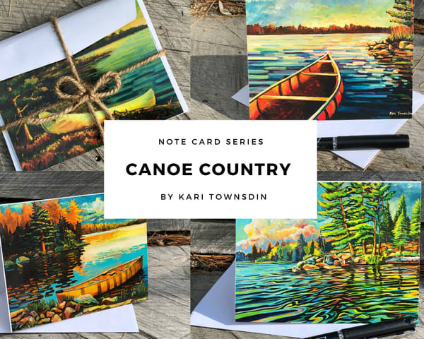 Canoe Camping Cards | Kari Townsdin