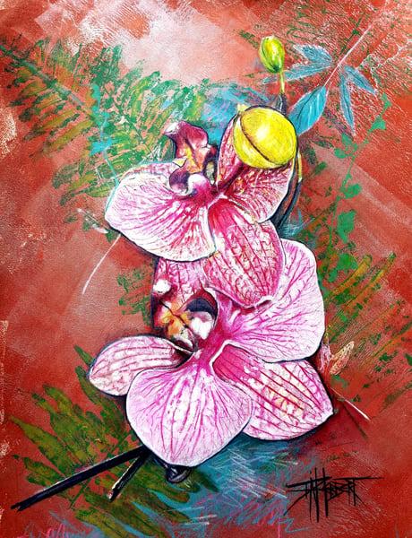 Bronze Orchid Art | debherbertart