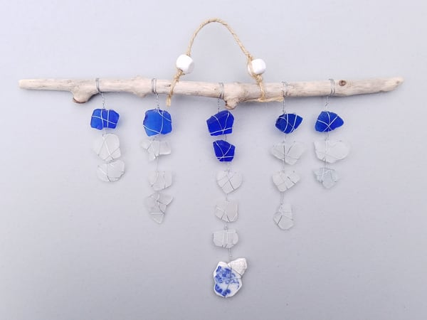 Blue China Suncatcher