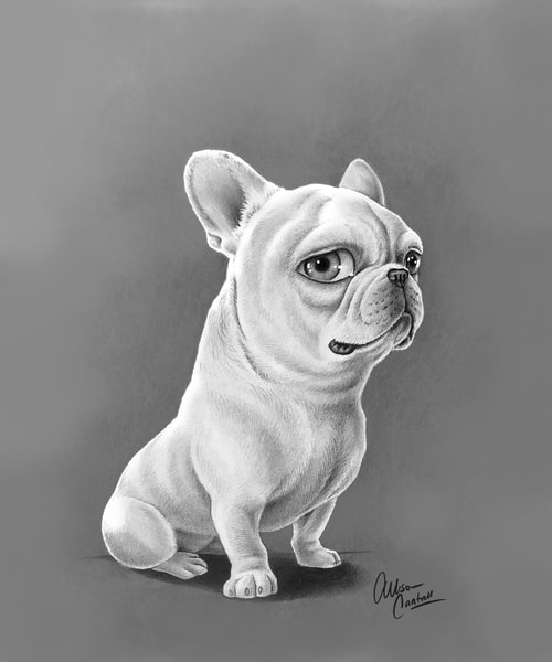 Fletch The Frenchie Art | BunnyPigs