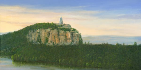 *Sunrise From Eagles Cliff Overlooking Smiley Tower Mohonk Art | Tarryl Fine Art