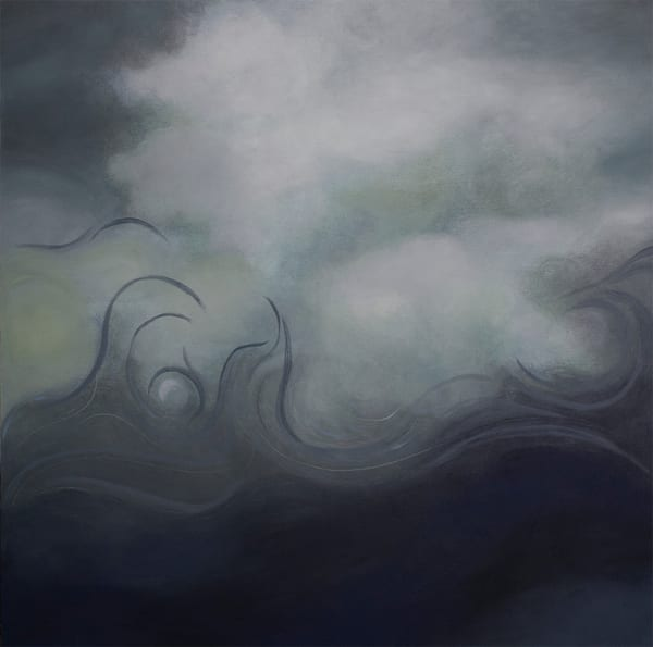 Original surreal seascape with pearl