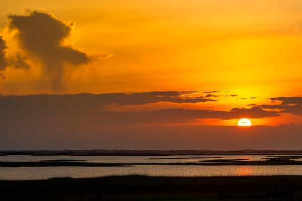 Point aux Chenes Sunset - Louisiana fine-art photography prints