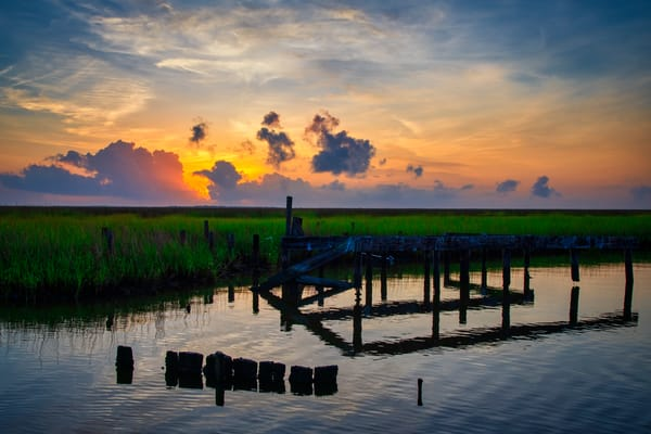 Marsh Sunrise - Louisiana fine-art photography prints