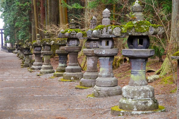 Japanese Stone Lantern in Japan Photograph – Pagoda - Zen Photography - Fine Art Prints on Canvas, Paper, Metal & More