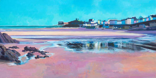 Tenby North Beach Art Print