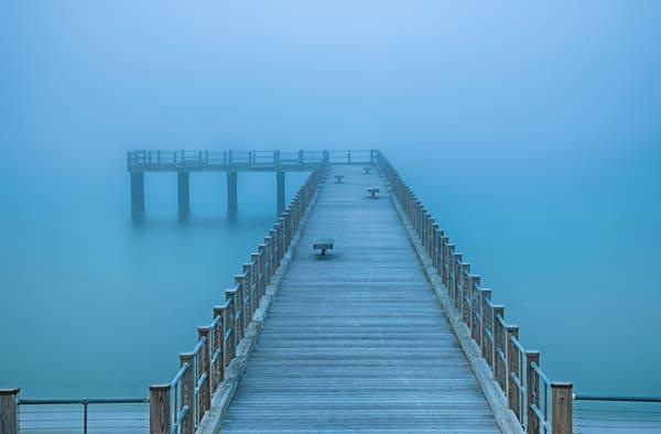 Oak Bluffs Fishing Pier Fog Art   Michael Blanchard Inspirational Photography - Crossroads Gallery