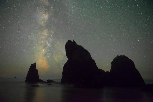 The Milky Way, Ruby Beach, Olympic National Park, Washington.