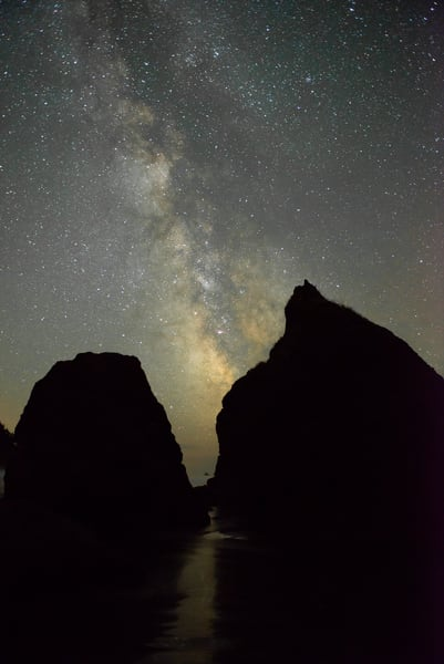 The Milky Way At Ruby Beach