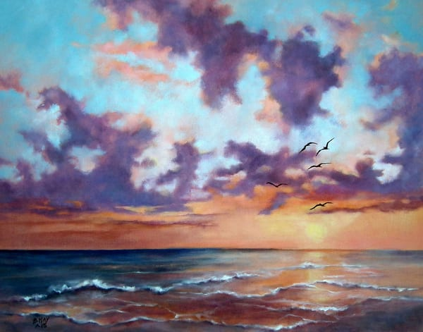 Happy Hour on Longboat Key, From an Original Oil Painting