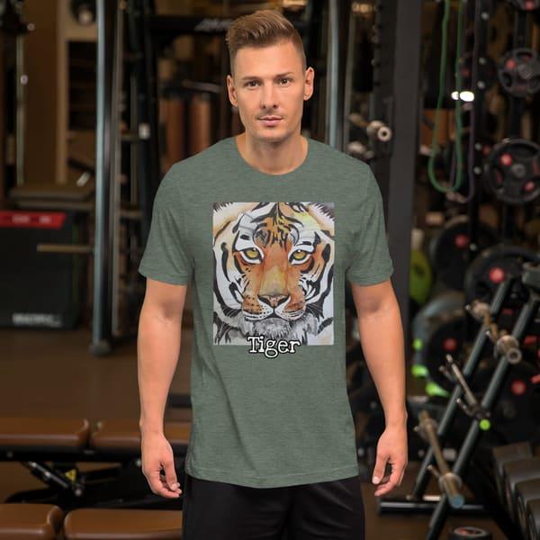 """Tiger"" Short Sleeve Unisex T Shirt | Water+Ink Studios"