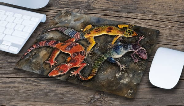 """Three Geckos"" Mousepad 