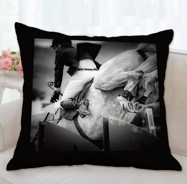 Pillow: 'high Heels B&W' 26x26 | Carol Brooks Parker Fine Art Photography