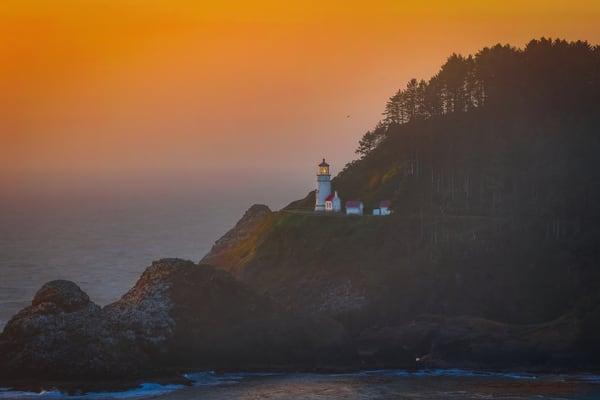 Haceta Head Lighthouse 1 Photography Art | John Martell Photography