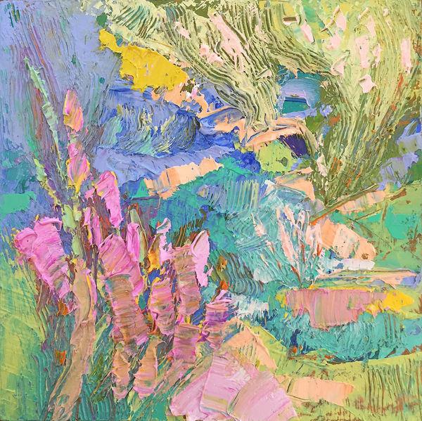 Leap Of Faith (Original Oil)   Dorothy Fagan Joy's Garden
