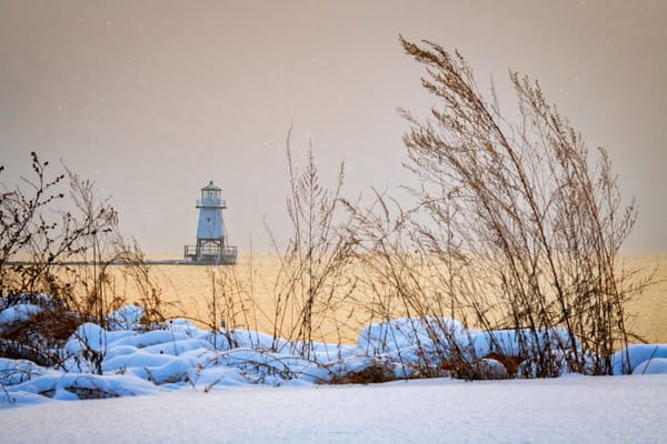 Winter at Burlington Breakwater | Shop Photography by Rick Berk