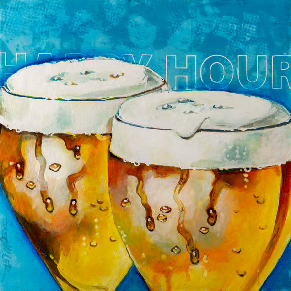 Happy Hour    2 Beers Art | Jeff Schaller