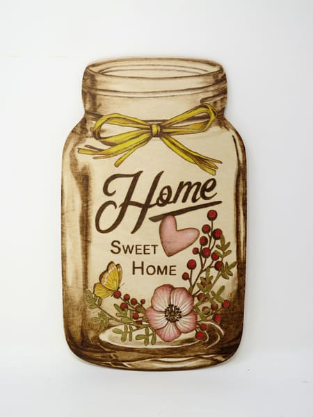 Home Sweet Home (Original Woodburning)   Minisa Pyrography