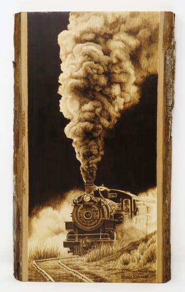 Steam Train (Original Woodburning)   Minisa Pyrography