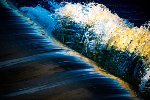 Blue Crash Art   Vitamin Sea Photography