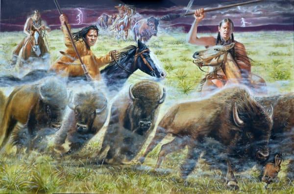 Buffalo Hunt Art | jamesloveless