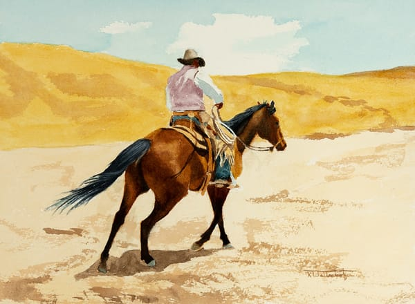 "Raymond Wattenhofer Original Art Watercolor ""Fleet Footed"""