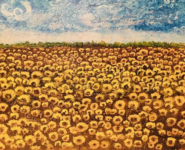 Autumn Of Sunflowers Art | Rowena Art Shop