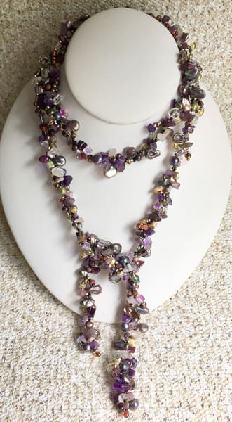 Pearls And Amethyst  | Art a la Carte Gallery (Karen Rexrode, Manager)