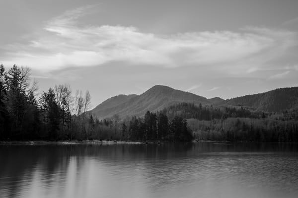 Sunny Winter Day, Alder Lake, Washington, 2016