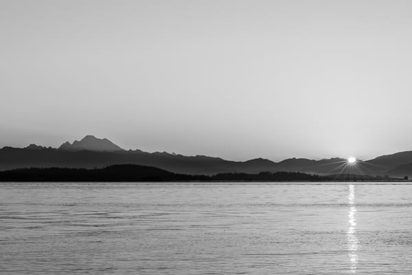 Sunrise Over Skagit Bay, Borgman Road, Whidbey Island, Washington, 2016