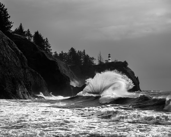 Surf at Cape Disappointment, Washington, 2020