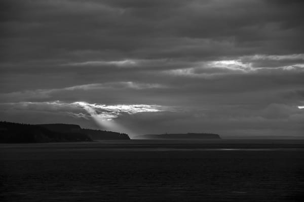 Winter Sunrays Over the Puget Sound, Whidbey Island, Washington, 2015