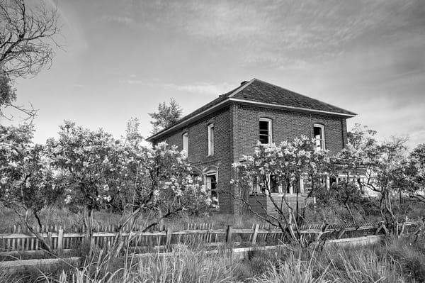 Abandoned Brick House, D Road NW, Douglas County, Washington, 2013