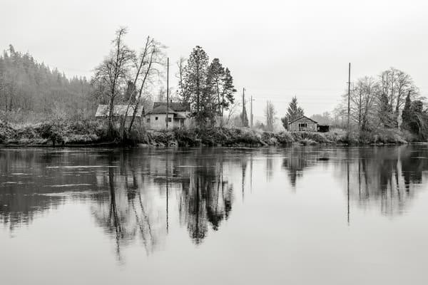 Abandoned Houses Along the Chehalis River, Montesano, Washington, 2015