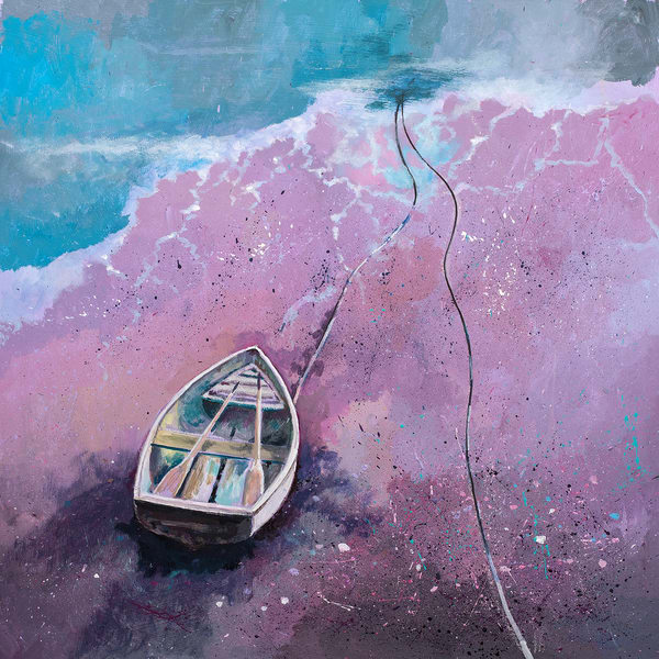 Rowing Boat Original Painting