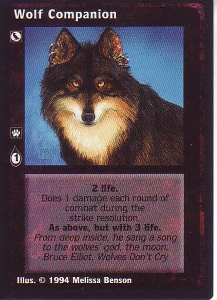 Wolf Companion Proof Card | Melissa A Benson Illustration