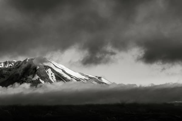 Shrouded by Clouds, Mount Saint Helens, Washington, 2016