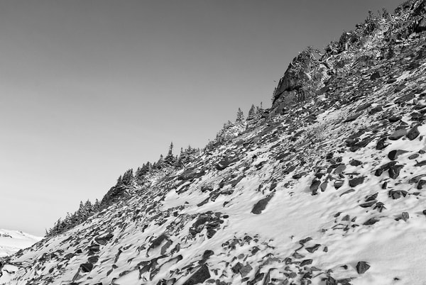 Snow Covered Rocky Slope, Mount Rainier National Park, Washington, 2007