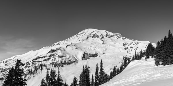 Winter Panoramic, Mount Rainier, Washington, 2016