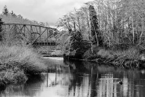 Bridge Over the Humptulips River, Washington, 2017