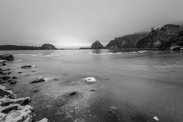 Frozen, Banks Lake, Steamboat Rock State Park, Washington, 2013