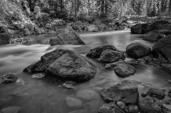 River Rocks, Cle Elum River, Washington, 2012