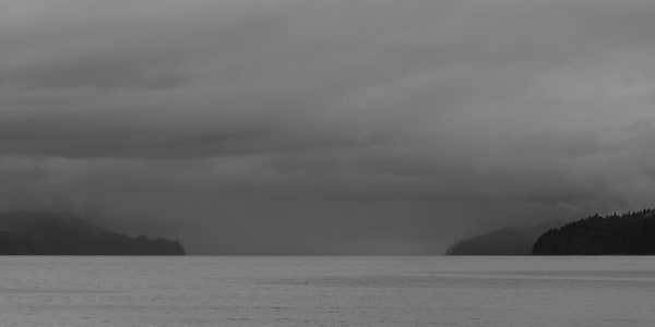 Cloudy Summer Day, Hood Canal, Washington, 2014