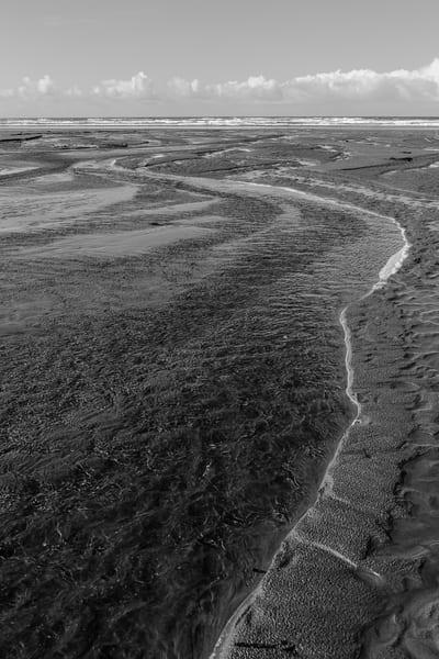 Creek on the Beach, Grayland, Washington, Winter 2017