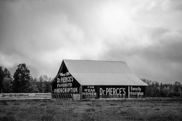 Barn with Dr. Pierce's Favorite Prescription Advertisement, Toledo, Washington, 2010